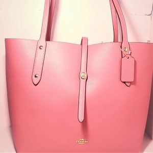 Coach Market Pebble Leather Rose Tote with Defects